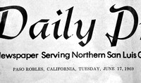 1969 Paso Robles Daily Press