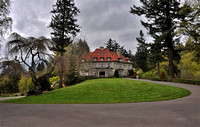 Pittock Mansion Above Downtown Portland